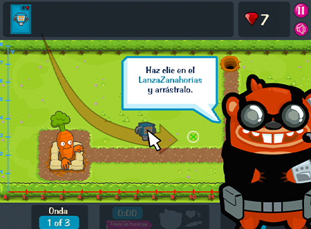 Game Over Gopher screenshot using arrow keys